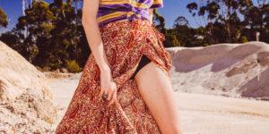 Arnhem Wild Magnolia Maxi Skirt