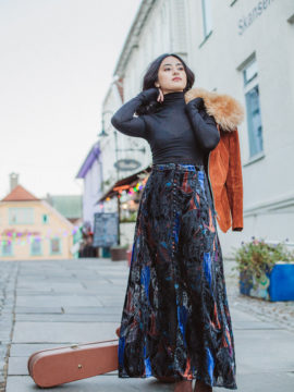 Free People Love Me So Right Velvet Maxi Skirt