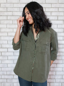Free People Off Campus Buttondown Shirt