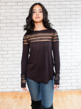 Free People Roxie Tee Black