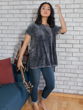 Free People Doran Tee Black
