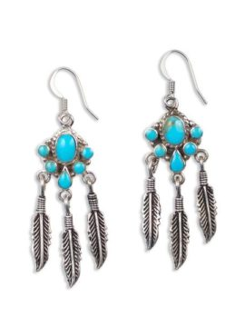 Tribe Jewelry Feather Fringe Earrings