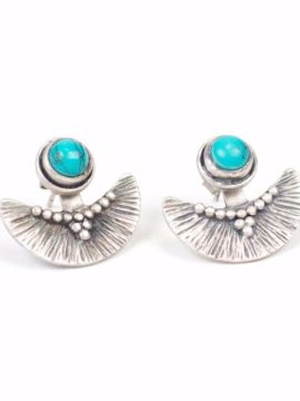 Tribe Jewelry Phoenix Earrings Silver + Turquoise