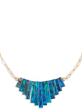 Tribe Jewelry Siren Necklace Gold + Turquoise