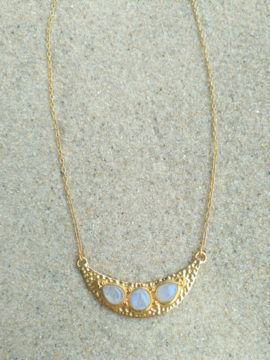 Tribe Jewelry Luna Necklace Gold + Moonstone