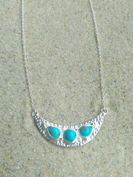Tribe Jewelry Luna Necklace Silver + Turquoise