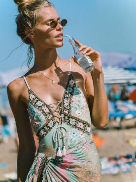 Spell & the Gypsy Collective Cloud Dancer Lace Up One Piece