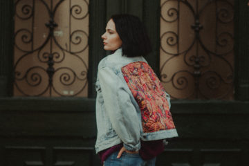 Free People Quilted Paisley Denim Jacket