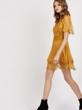 Cleobella Safira Dress Mustard Gold