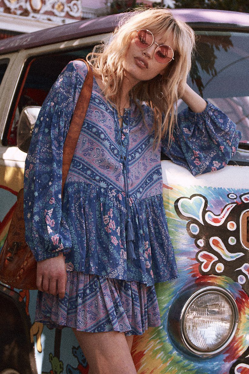 8bb72901732 Spell & the Gypsy Collective City Lights Blouse Indigo - Belle & the ...