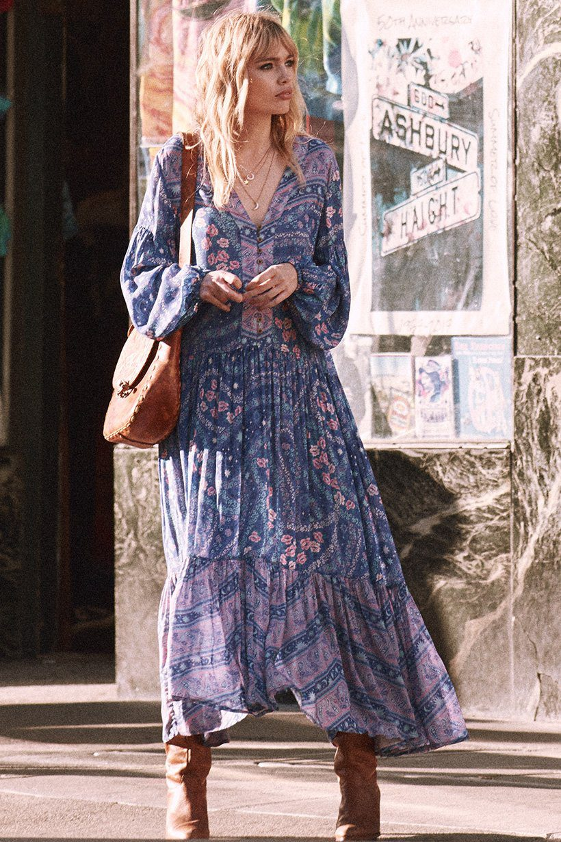 Spell & the Gypsy Collective City Lights Gown Indigo - Belle & the Brave