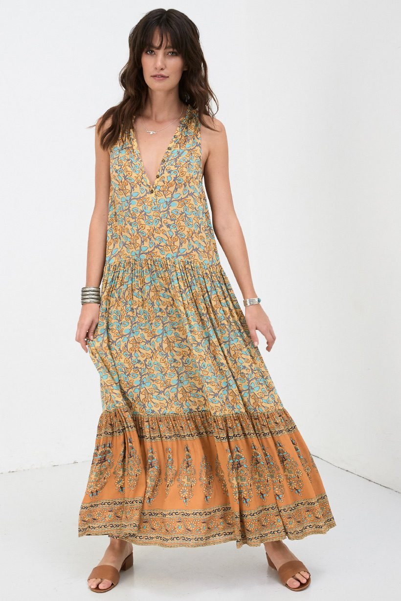 1f4db493f47 Spell   the Gypsy Collective Delirium Maxi Dress Gold - Belle   the ...