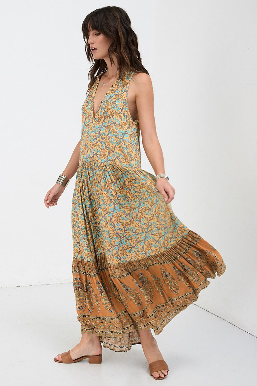 Spell & the Gypsy Collective Delirium Maxi Dress Gold - Belle & the ...