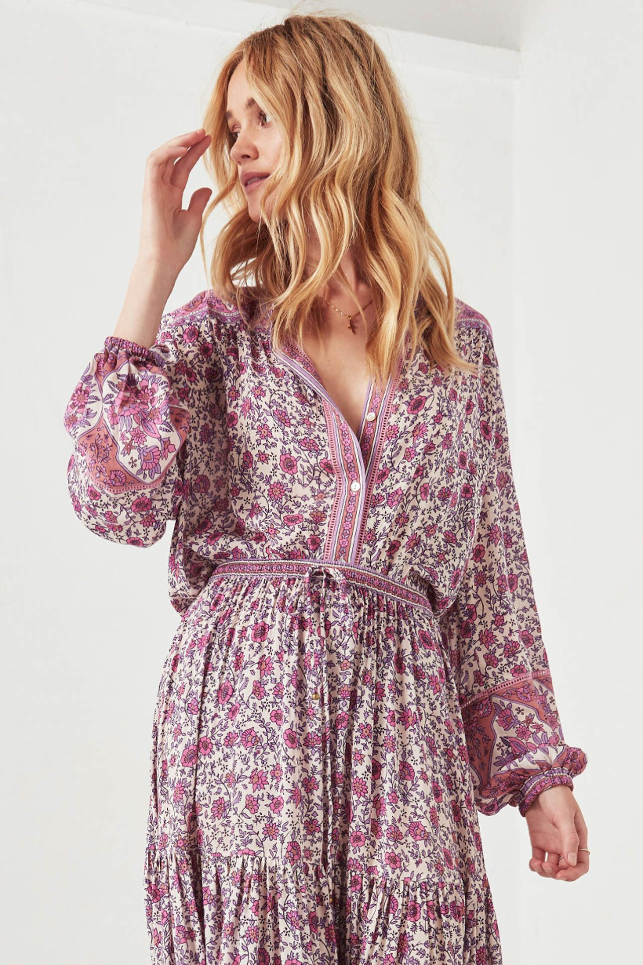 7e6399d2271 Spell   the Gypsy Collective Jasmine Blouse Lilac - Belle   the Brave